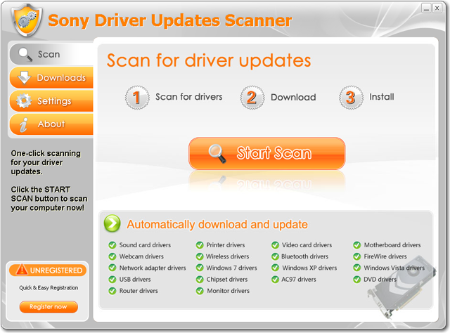 Sony Driver Updates Scanner Download