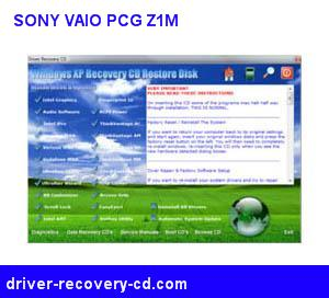 Sony Vaio PCG-Z1M Windows 7 Driver Recovery CD Download