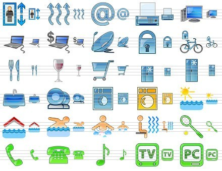 Standard Hotel Icons Download