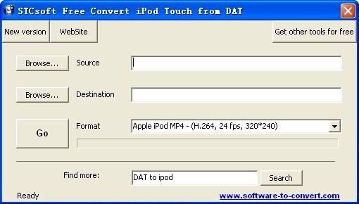 STCsoft Free Convert iPod Touch from DAT Download