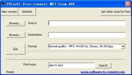 STCsoft Free Convert MP3 from APE Download