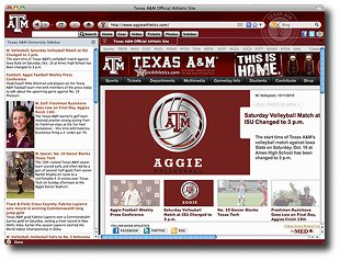 Texas A&M Aggies IE Browser Theme Download