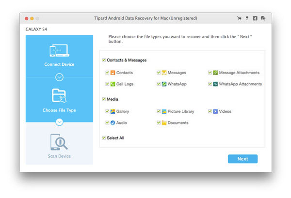 Tipard Android Data Recovery for Mac Download