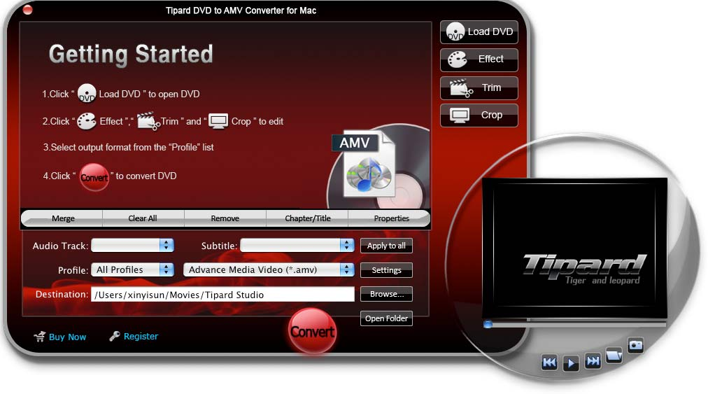 Tipard DVD to AMV Converter for Mac Download