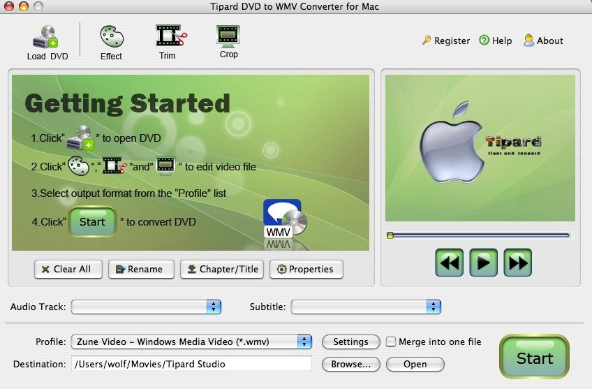 Tipard DVD to WMV Converter for Mac Download