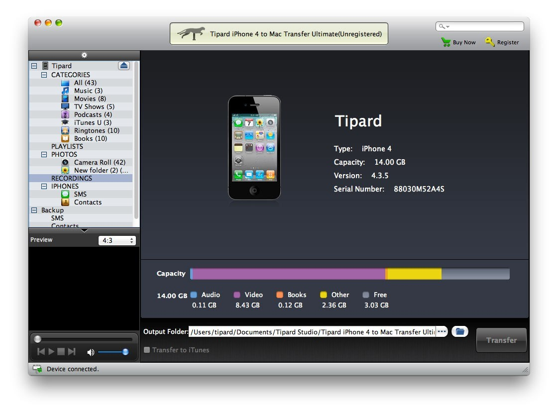 Tipard iPhone 4 to Mac Transfer Ultimate Download