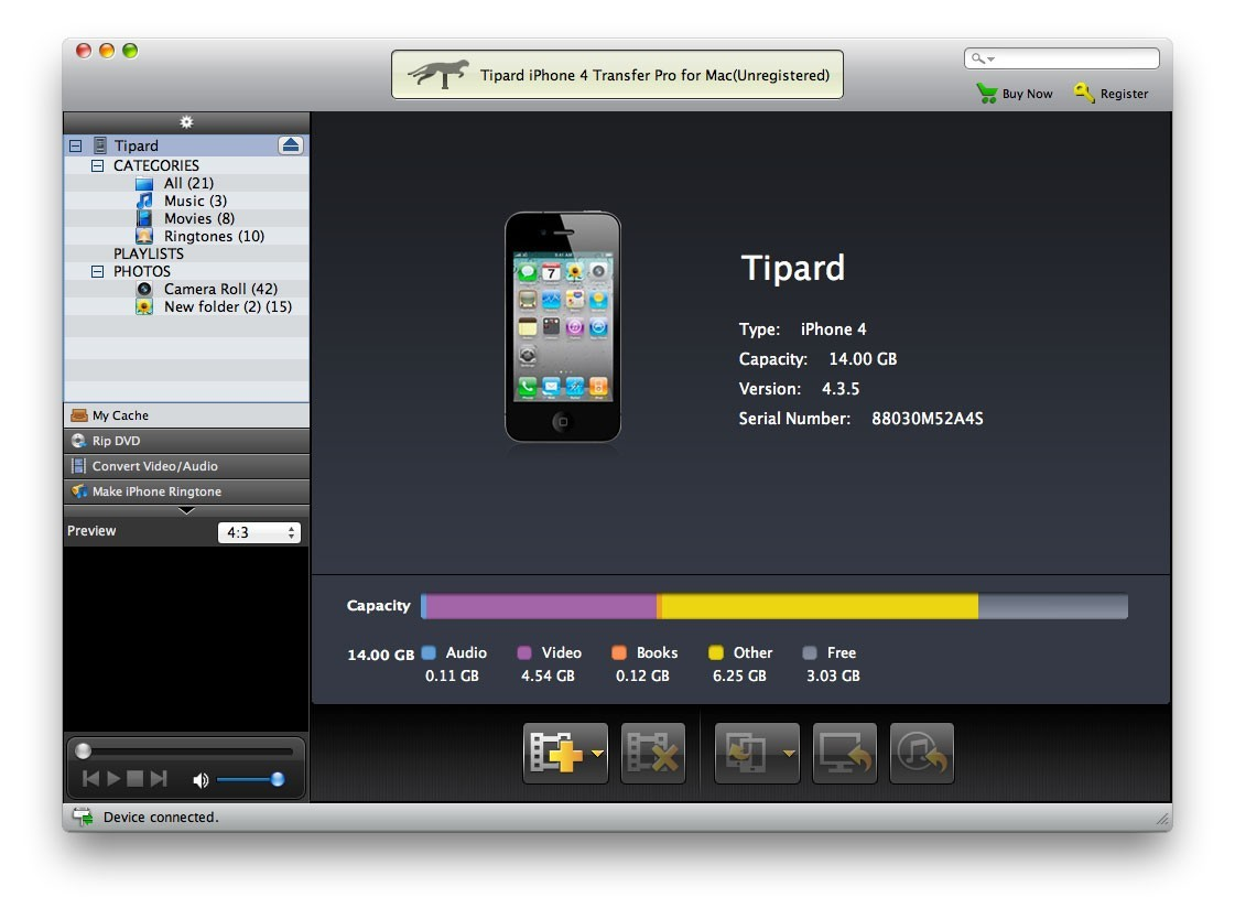 Tipard iPhone 4G Transfer Pro for Mac Download