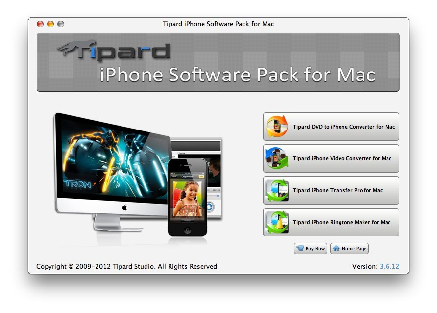 Tipard iPhone Software Pack for Mac Download