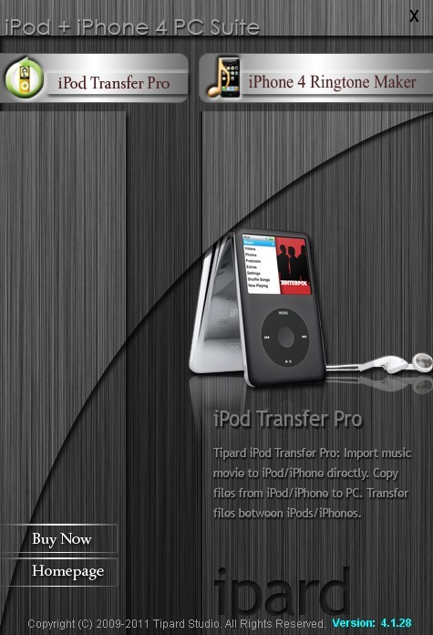 Tipard iPod + iPhone 4G PC Suite Download