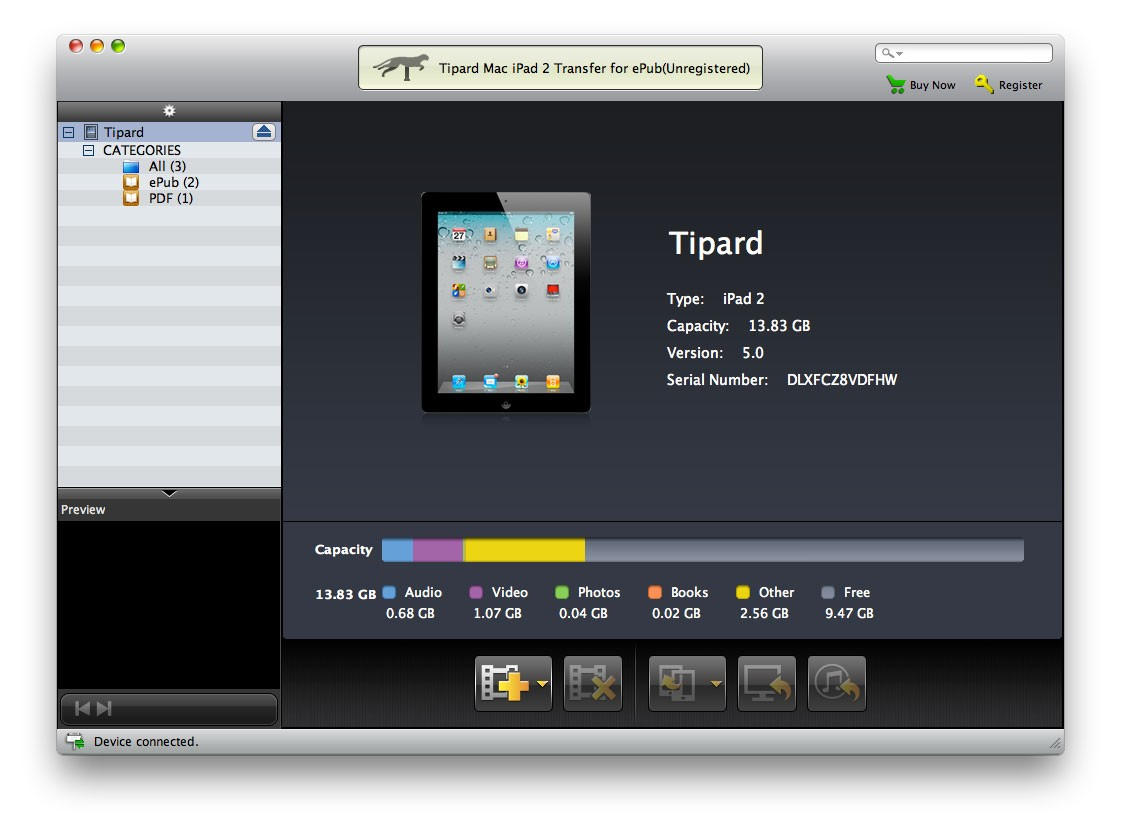 Tipard Mac iPad 2 Transfer for ePub Download