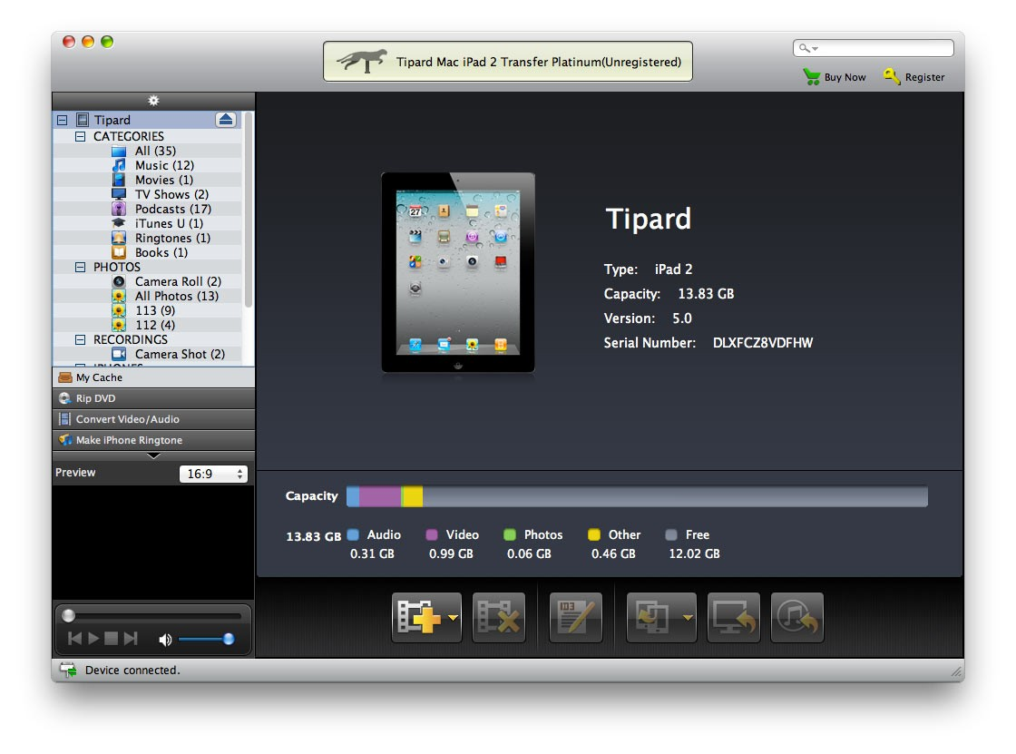 Tipard Mac iPad 2 Transfer Platinum Download