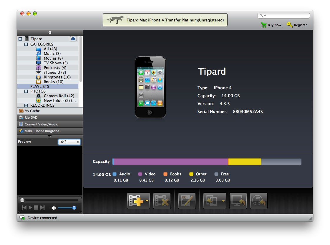 Tipard Mac iPhone 4 Transfer Platinum Download