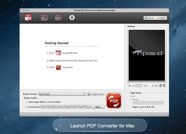 Tipard PDF Converter for Mac Download