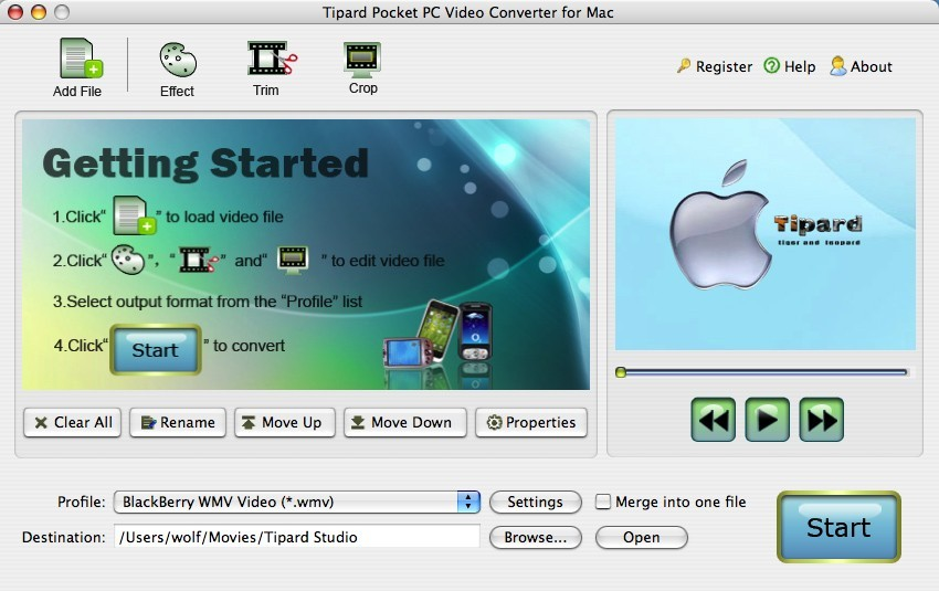 Tipard Pocket PC Video Converter for Mac Download