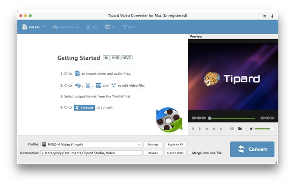 Tipard Video Converter for Mac Download