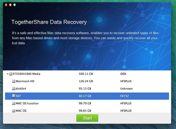 TogetherShare Data Recovery Free for Mac Download