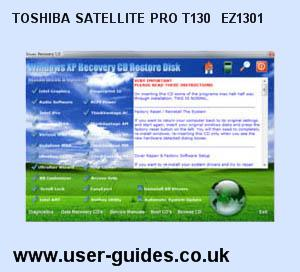 Toshiba Satellite Pro T130- EZ1301 Windows Vista Drivers Download
