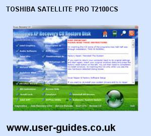 Toshiba Satellite Pro T2100CS Windows Vista Drivers Download