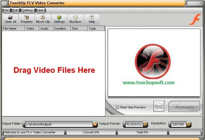 TouchUpSoft FLV Video Converter Download