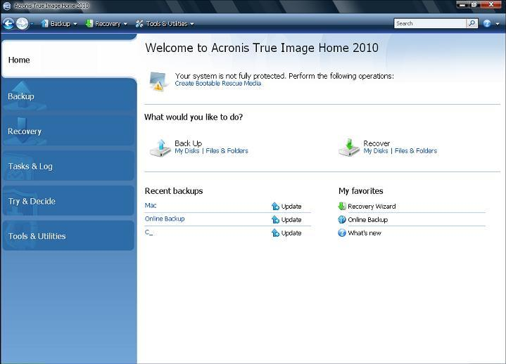 True Image Home 2010 Netbook Edition Download