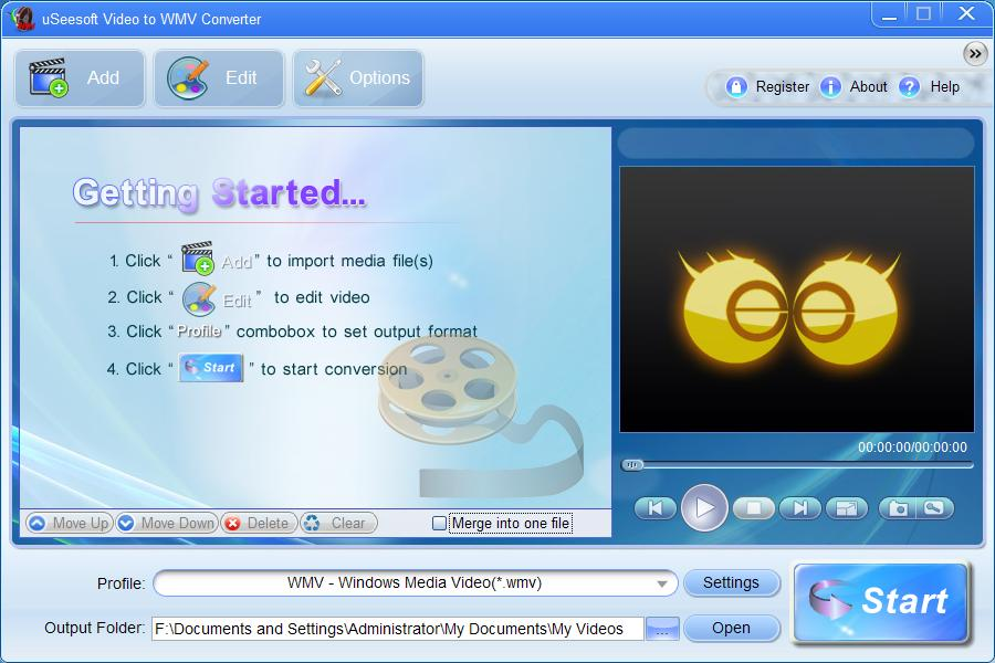 uSeesoft Video to WMV Converter Download