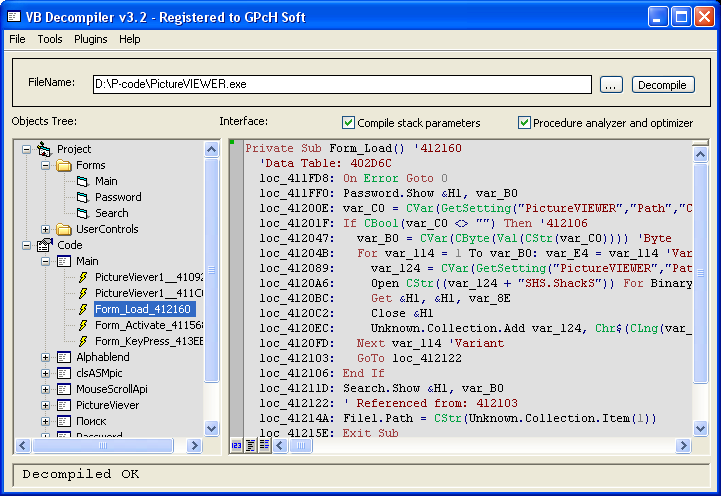 Free vb decompiler full version Online visual c compiler