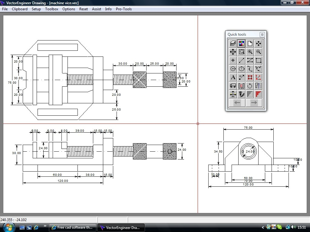 Simple mechanical drawings for Simple cad drawing online