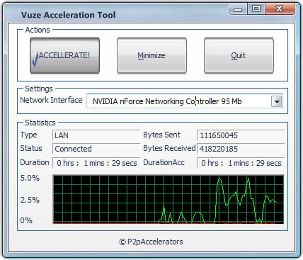 Vuze Acceleration Tool Download