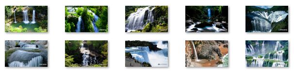 Waterfalls Windows 7 Theme with sound Download