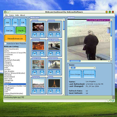 Even use a webcam as your screensaver!Automatically downloads webcam images!