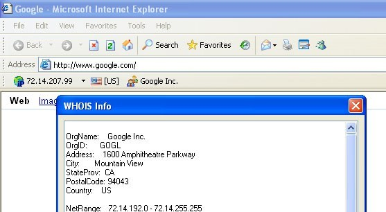 WHOIS Toolbar for Internet Explorer Download