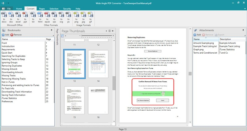 Wide Angle PDF Converter Download