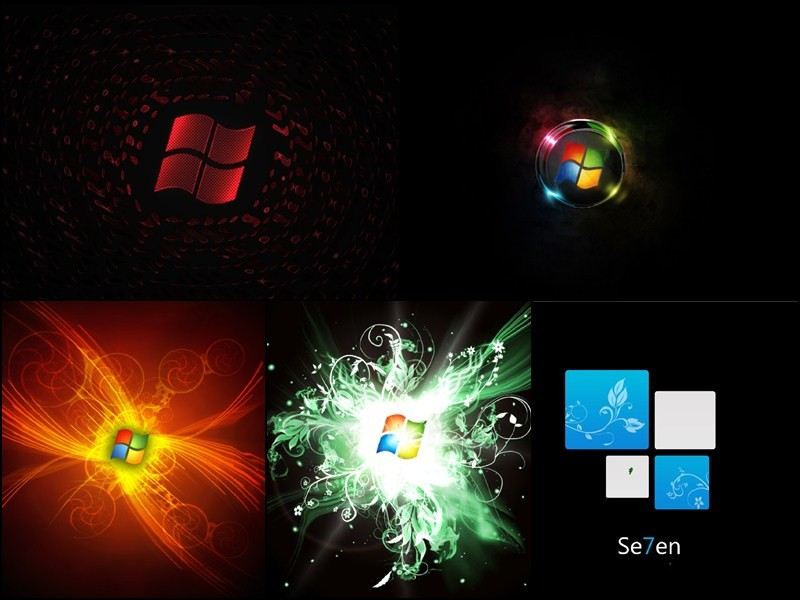 Windows 7 Black Edition Animated Wallpaper Download
