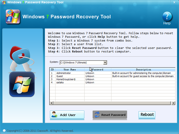 Windows 7 Password Recovery Tool Download
