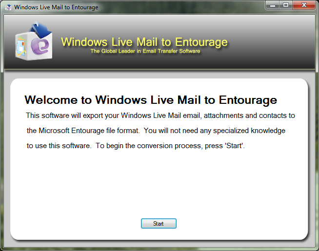 Windows Live Mail to Entourage Download