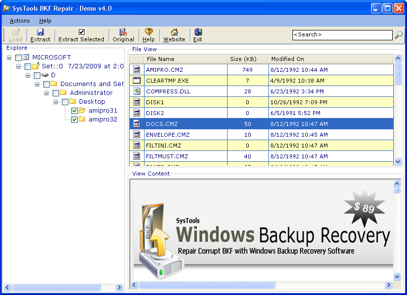 Windows XP Backup Recovery Download