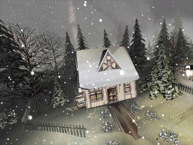 Experience the serene atmosphere of a quiet winter night with this