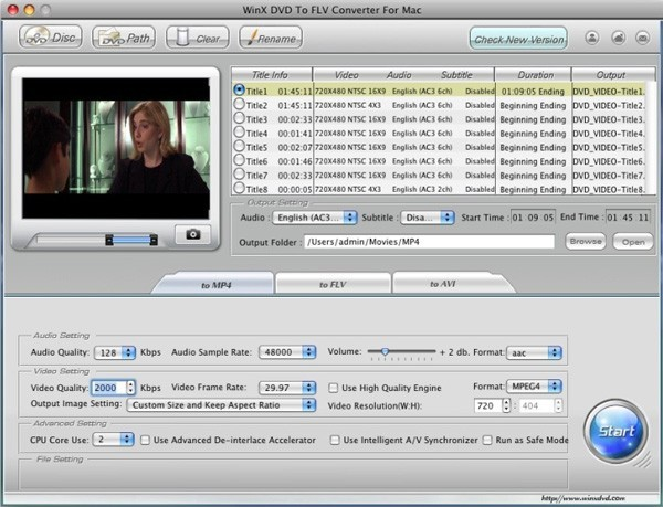 WinX DVD to FLV Converter for Mac Download
