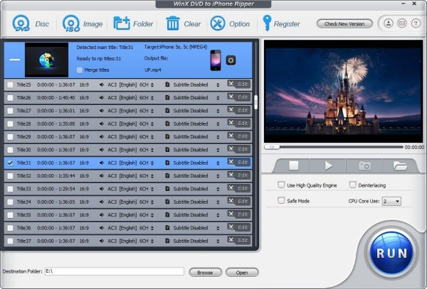 WinX DVD to iPhone Ripper Download