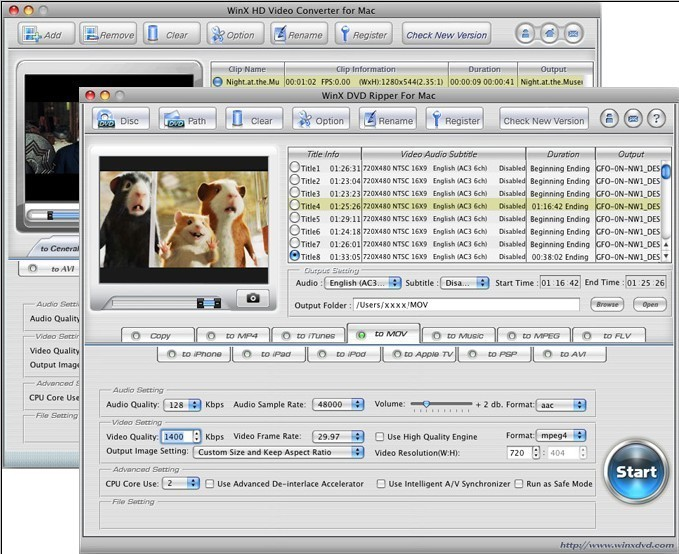 WinX DVD Video Converter Pack - Mac Download