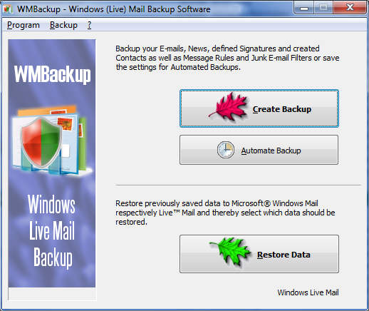 WMBackup - Windows Live Mail Backup Software Download