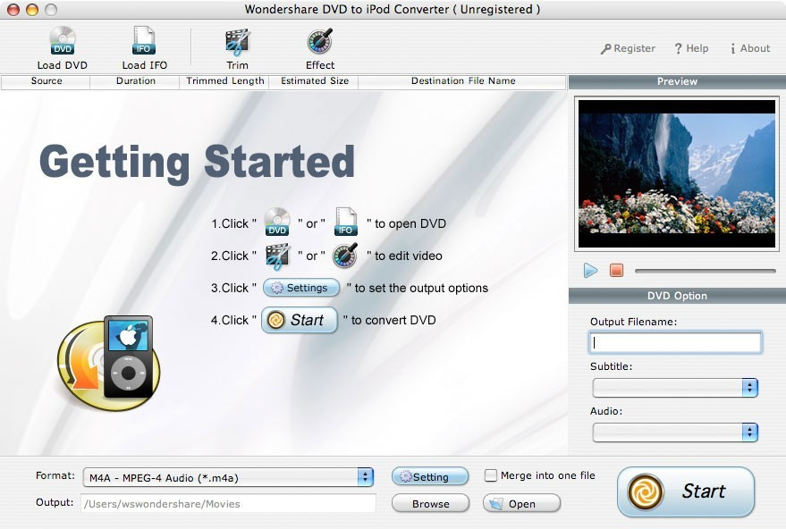 Wondershare DVD to iPod Converter for Mac Download