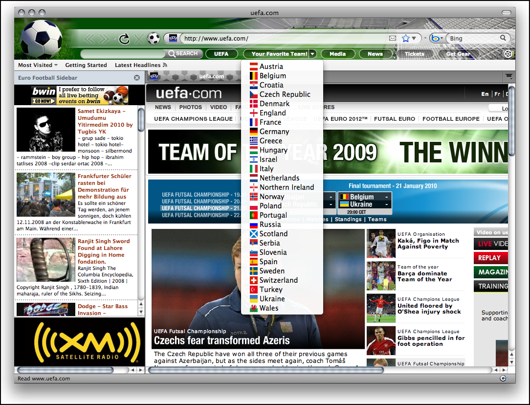 World Cup Soccer Internet Explorer Theme Download