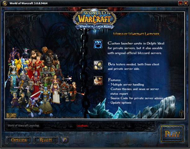 World of Warcraft Custom Launcher Download