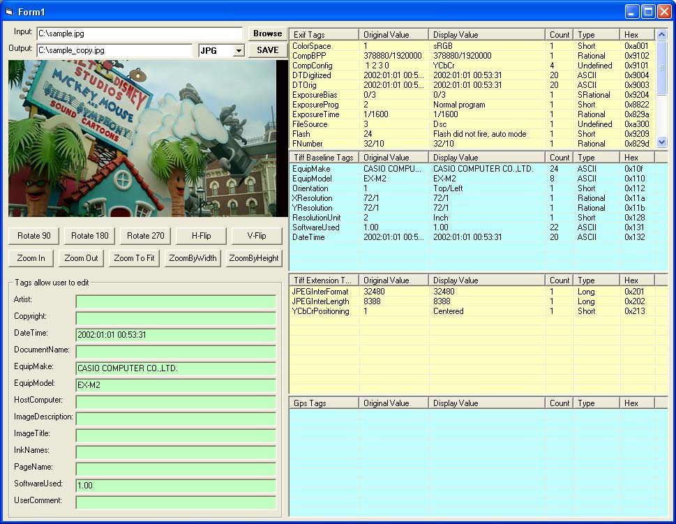 X360 Exif Tiff Tag Viewer OCX SourceCode Download