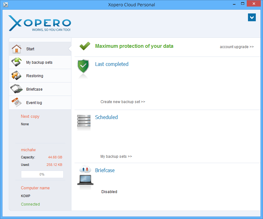 Xopero Cloud Personal Download