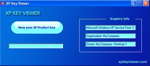 XP Key Viewer is a free software that can let you view your Windows XP