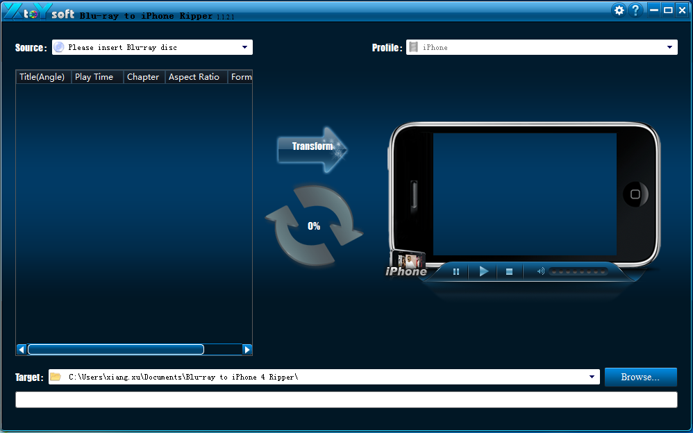 XtoYsoft Blu-ray to iPhone Ripper Download