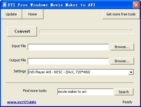 XYZ Free Windows Movie Maker to AVI Download